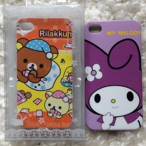 Accessories - Rilakkuma and My Melody iPhone case bundle